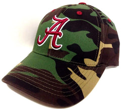 Alabama Crimson Tide Camouflage Hat Adjustable Velcro Closure Cap