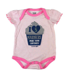 Outerstuff Seattle Mariners Baseball Girls Baby Bodysuit Clothing Apparel