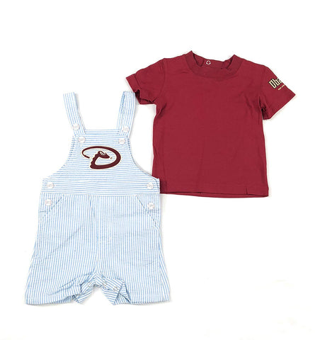 Outerstuff Arizona Diamondbacks Toddler Coveralls/Jumper, 2 Piece Clothing Apparel