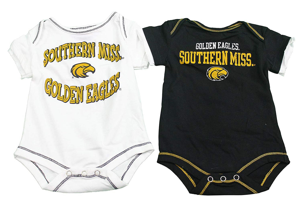 Outerstuff Southern Miss Eagles Baby Clothing, University 2 Piece Creeper Apparel Set