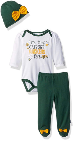 Gerber Childrenswear Bodysuit, Pant & Cap Set