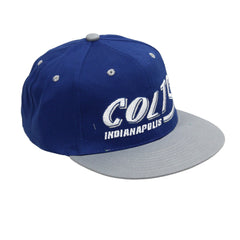 Indianapolis Colts Embroidered Flat Bill Snapback Hat NFL Team Apparel
