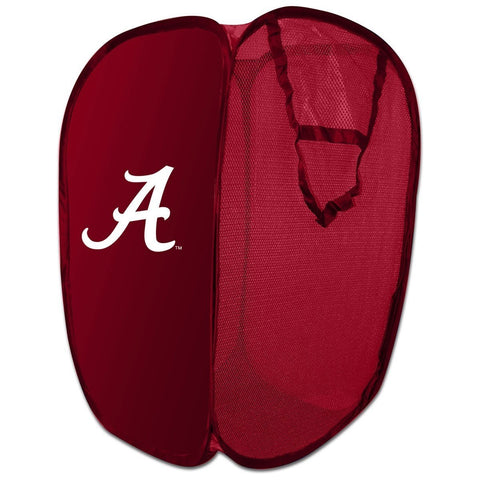 NCAA Alabama Crimson Tide Pop-Up Laundry Hamper College Team Logo Storage Basket
