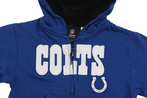 Team Apparel Toddler Boy's Embroidered Indianapolis Colts Hooded Sweat Jacket