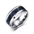 White Tungsten Blue Graphite Inlay Engagement Band Wholesale 8mm - Ables Mall