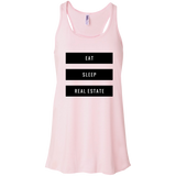 Eat Sleep Real Estate Flowy Racerback Tank
