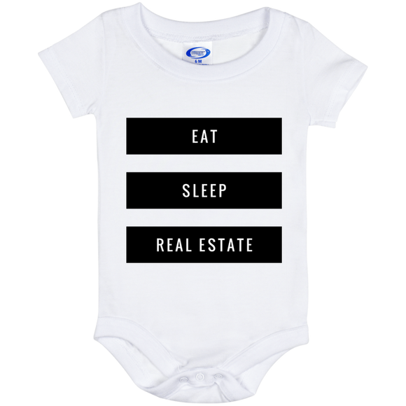 Eat Sleep Real Estate Baby Onesie 6 Month