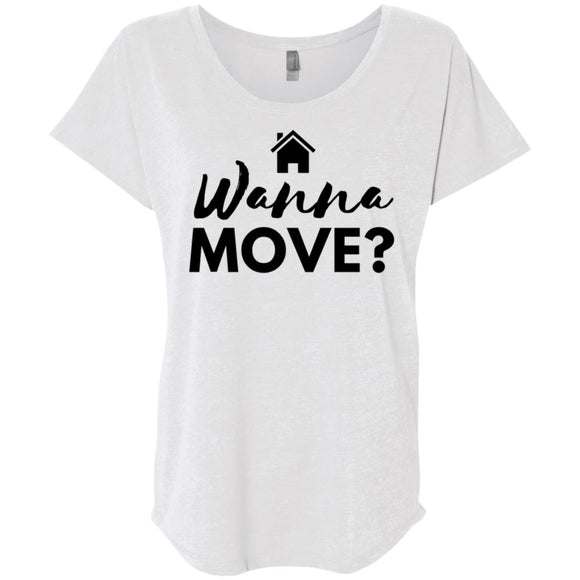 Wanna Move Loose Fit Women's Shirt