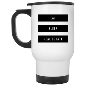 Eat Sleep Real Estate XP8400W White Travel Mug