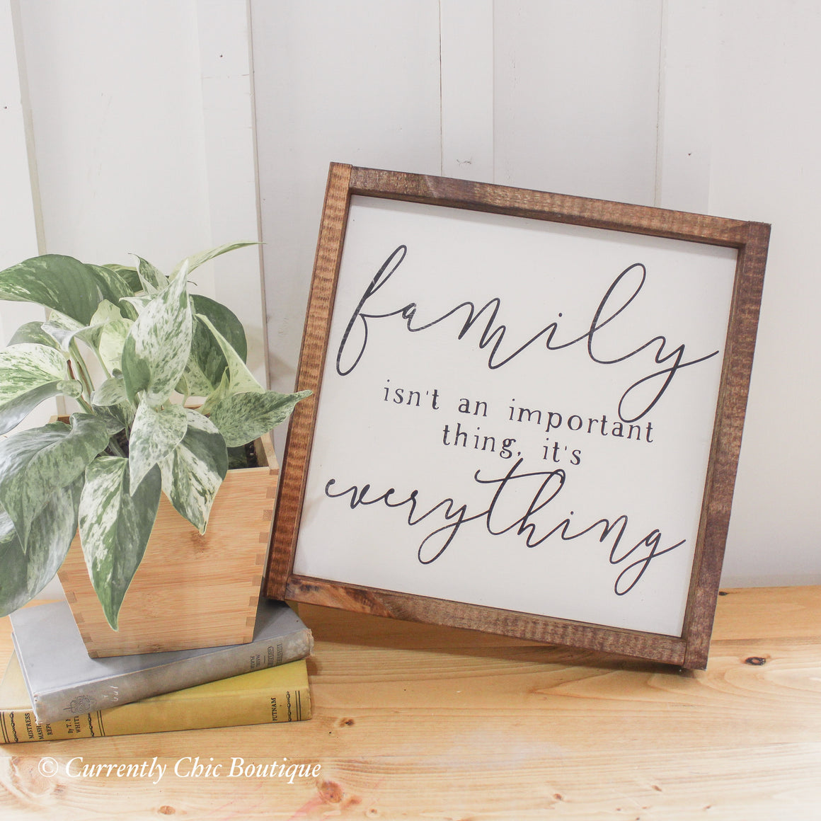 Family is Everything Wood Sign
