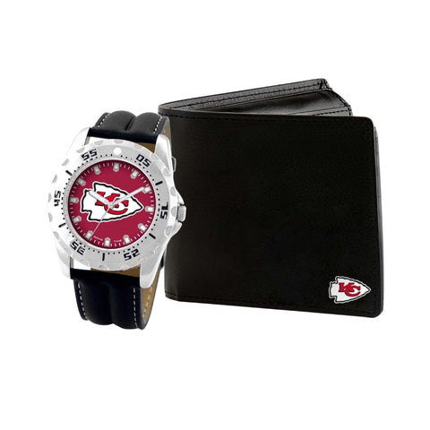 Kansas City Chiefs Watch & Wallet Set NFL-WAW-KC