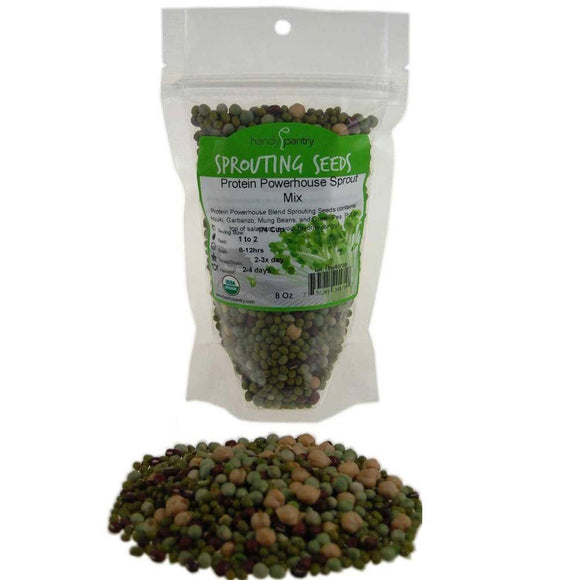 Organic Protein Powerhouse Sprouting Seeds Mix (8 ounces) - My Patriot Supply