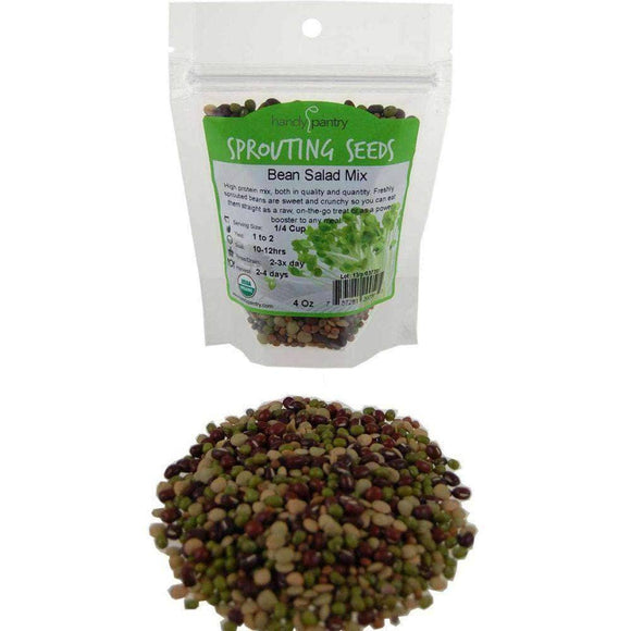 Organic Bean Salad Mix Sprouting Seeds (4 ounces) - My Patriot Supply