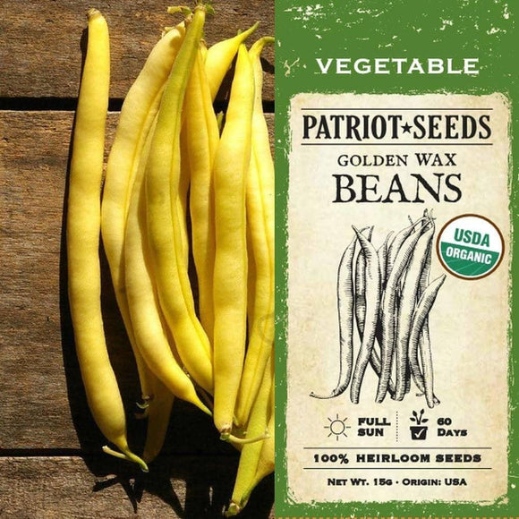 Organic Golden Wax Beans (15g) - My Patriot Supply