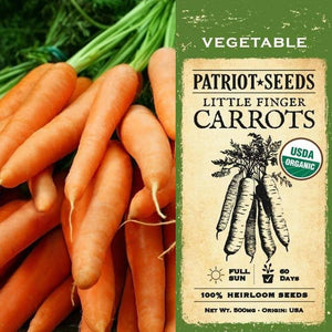 Organic Little Finger Carrot Seeds (500mg) - My Patriot Supply