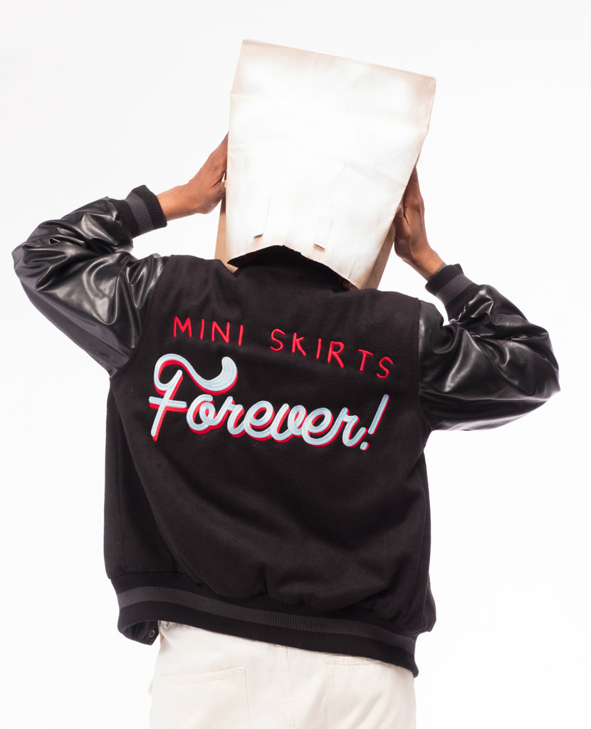 Mini Skirts Forever Varsity Jacket