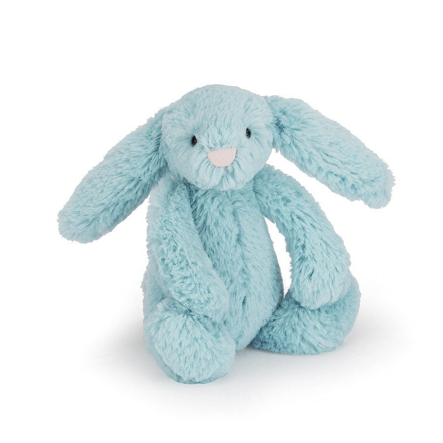 Bashful Aqua Bunny Stuffed Animal