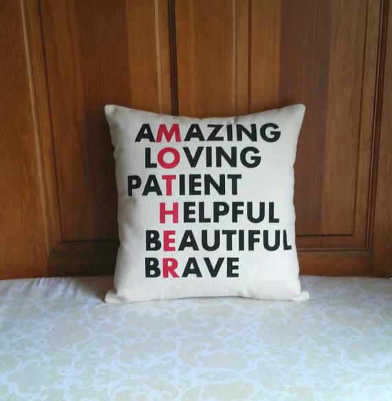 Mother Anagram Pillow | Gift for Mom