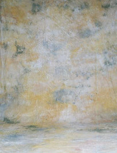Abstract Yellow And Dark Green Hand Painted Muslin Backdrop For Photo - Shop Backdrop