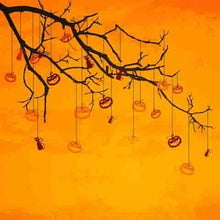 Branch Hanging Pumpkin Photography For Baby Halloween Backdrop - Shop Backdrop