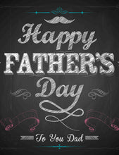 Chalkboard Printed Happy Father Day Photography Backdrop - Shop Backdrop