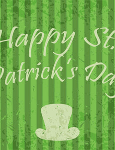Deep Green Streak In Green St.Patrick's Day Backdrop For Photography - Shop Backdrop