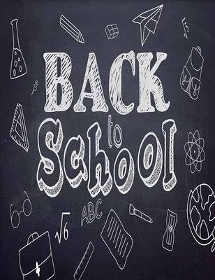 Drawn School Stationary Icons And Back To School Photography Backdrop J-0190