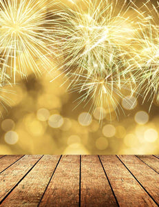 Fireworks Canary Yellow Bokeh Background For Christmas Backdrop - Shop Backdrop