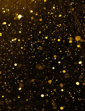 Golden Sparkle With Black Background For Holiday Photography Backdrop J-0285