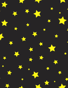 Golden Stars In Black Sky For Children Photography Backdrop J-0712