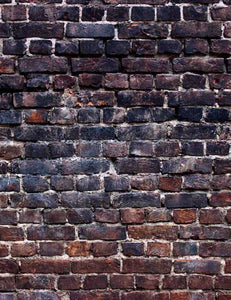 Grunge Black Red Brick Wall Texture Photography Backdrop - Shop Backdrop