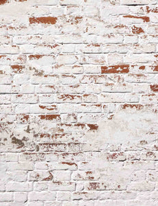 Grunge White Brick Wall Backdrop For Photography - Shop Backdrop