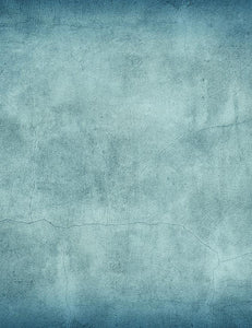 Grungy Blue Concrete Wall Texture Photography Backdrop J-0688