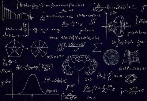 Math Physics Formulas And Symbol On Blackboard Photography Backdrop J-0145
