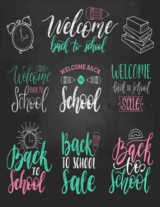Painted Color Font Back To School For Children Photography Backdrop