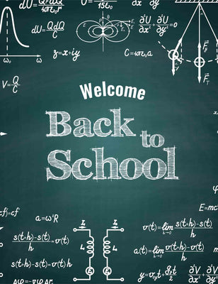 Printed Back To School On Chalkboard For Students Photography Backdrop