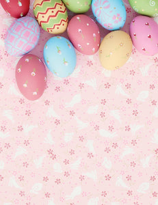 Colorful Easter Eggs On Pink Paper Backdrop For Photography - Shop Backdrop