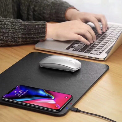 Mouse Pad Wireless Charging Dock-smartphone smartwatch quick charger mouse pad-The Exceptional Store