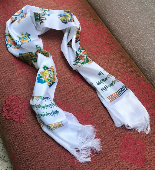 Bhutan silk scarf for offering and well wishing