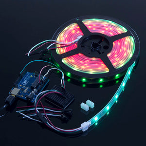 ACROBOTIC WS2812B Strip with 30 RGB LED/m (White PCB, IP68 Waterproof)  | NeoPixel-Compatible