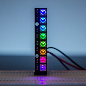 ACROBOTIC WS2812B Stick with 8 RGB LEDs | NeoPixel-Compatible