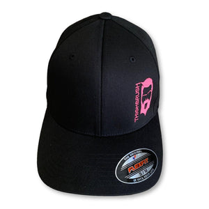 "THIGHBRUSH® ""NO BEARD, NO BOOTY"" - FlexFit Hat - Black and Pink"