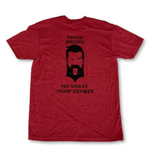 "LIMITED EDITION - THIGHBRUSH® - No Shave ""MOW""vember - Men's T-Shirt - Cranberry and Black"