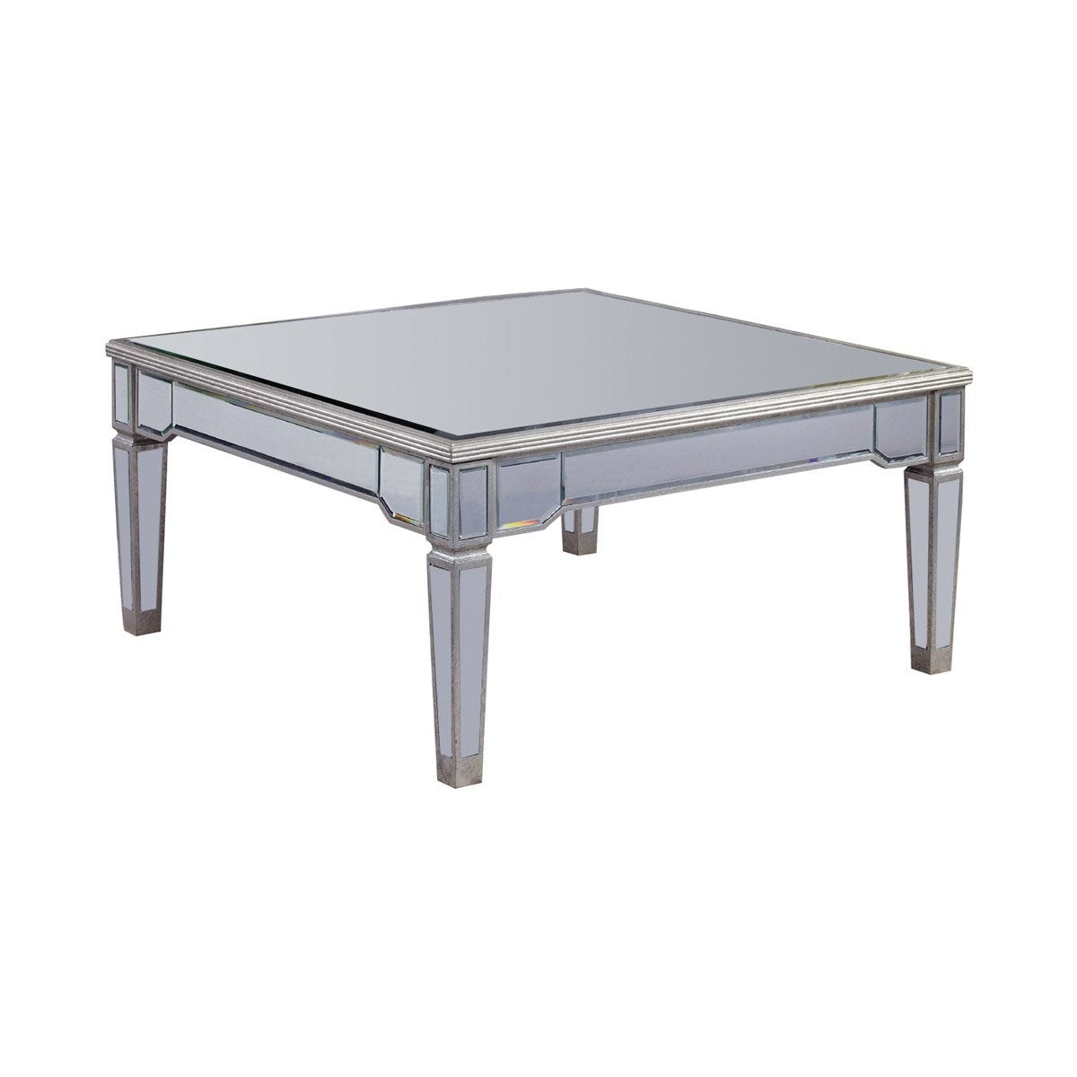 Florentine 38 X 19 Coffee Table - Silver Leaf Finish (Mf1-2002Sc) Coffee Table