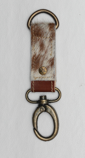 Hair-on-Hide, Leather Key Chain