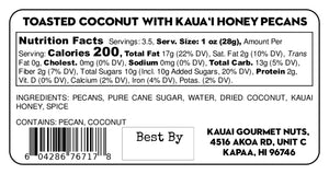 Toasted Coconut With Kaua'i Honey Pecans