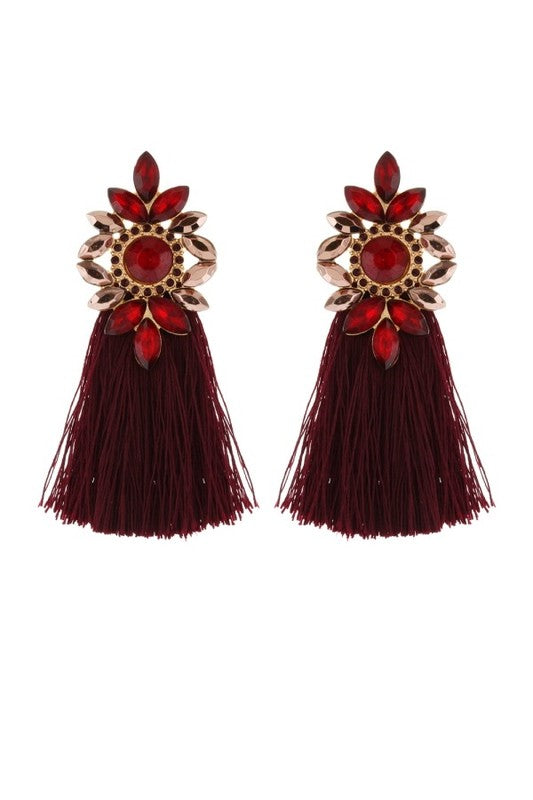 Jewel & Tassel Earrings
