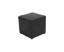 Single Black Ottoman