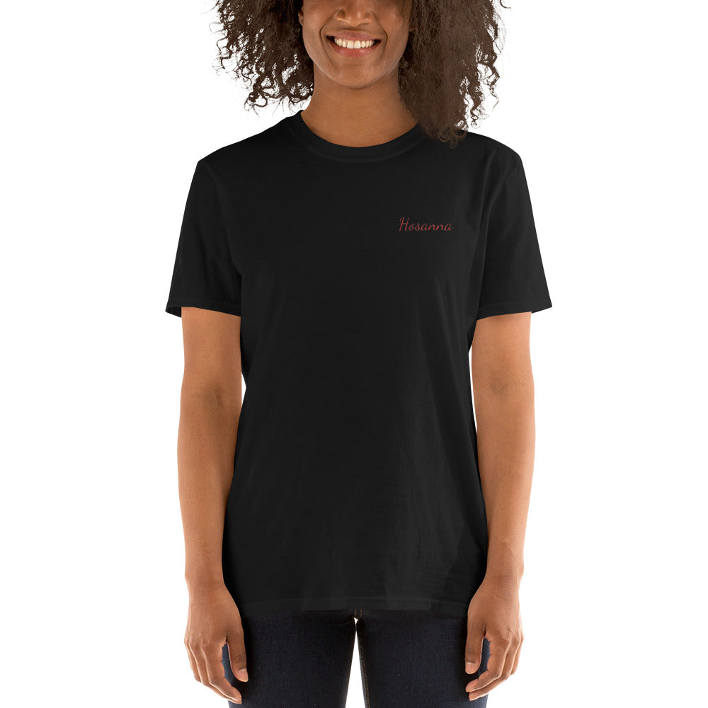 HOSANNA Embroidered Short-Sleeve Unisex T-Shirt