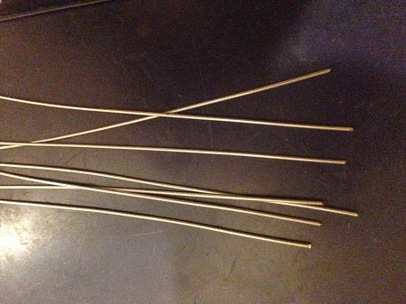 25 Pack Tinned Music Wire 13 inch .045 WIRE SHAFTS Muskie LURE